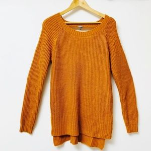 ✨Charlotte Russe orange knitted long sweater